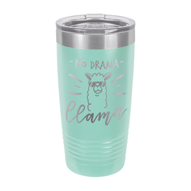 "Insulated Cup, Insulated Thermos, Travel Cup, Personalized Cup, Custom Thermos ""No Drama Llama"""
