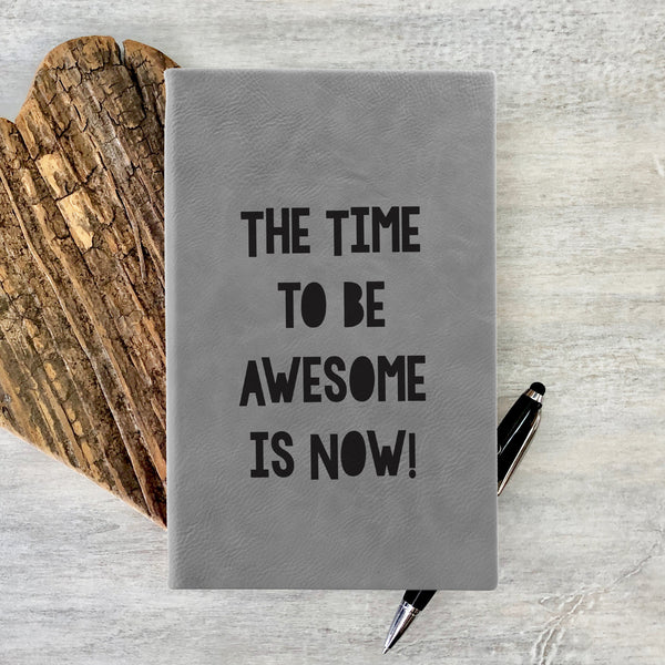 "Custom Journal, Cute Journal, Personalized Journal ""Time to be Awesome"""