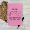 "Custom Journal, Cute Journal, Personalized Journal ""Best Friends Forever"""