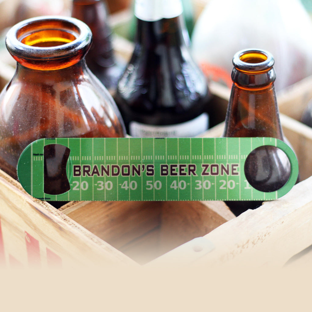 "Personalized Bottle Opener - ""Brandon's Beer Zone"""