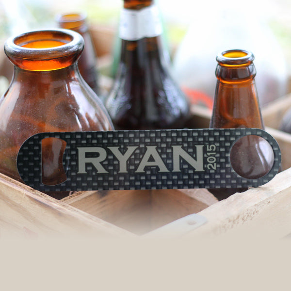 "Personalized Bottle Opener - ""Ryan Metallic"""