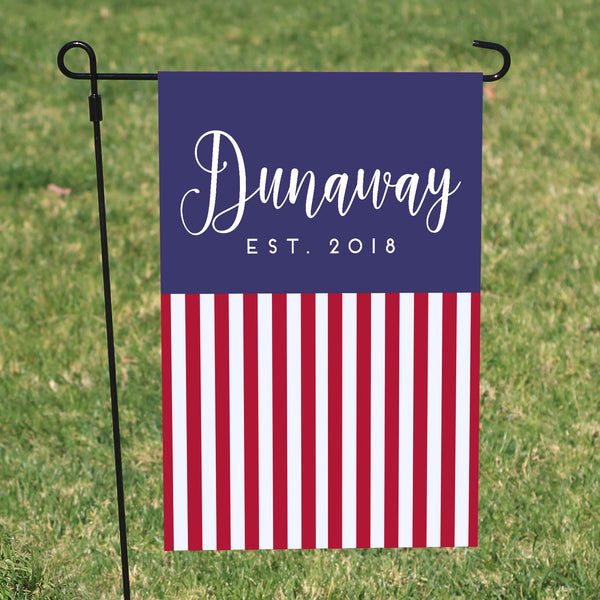 Custom yard flag, American Flag, Fourth of july yard flag, Red white and blue yard flag