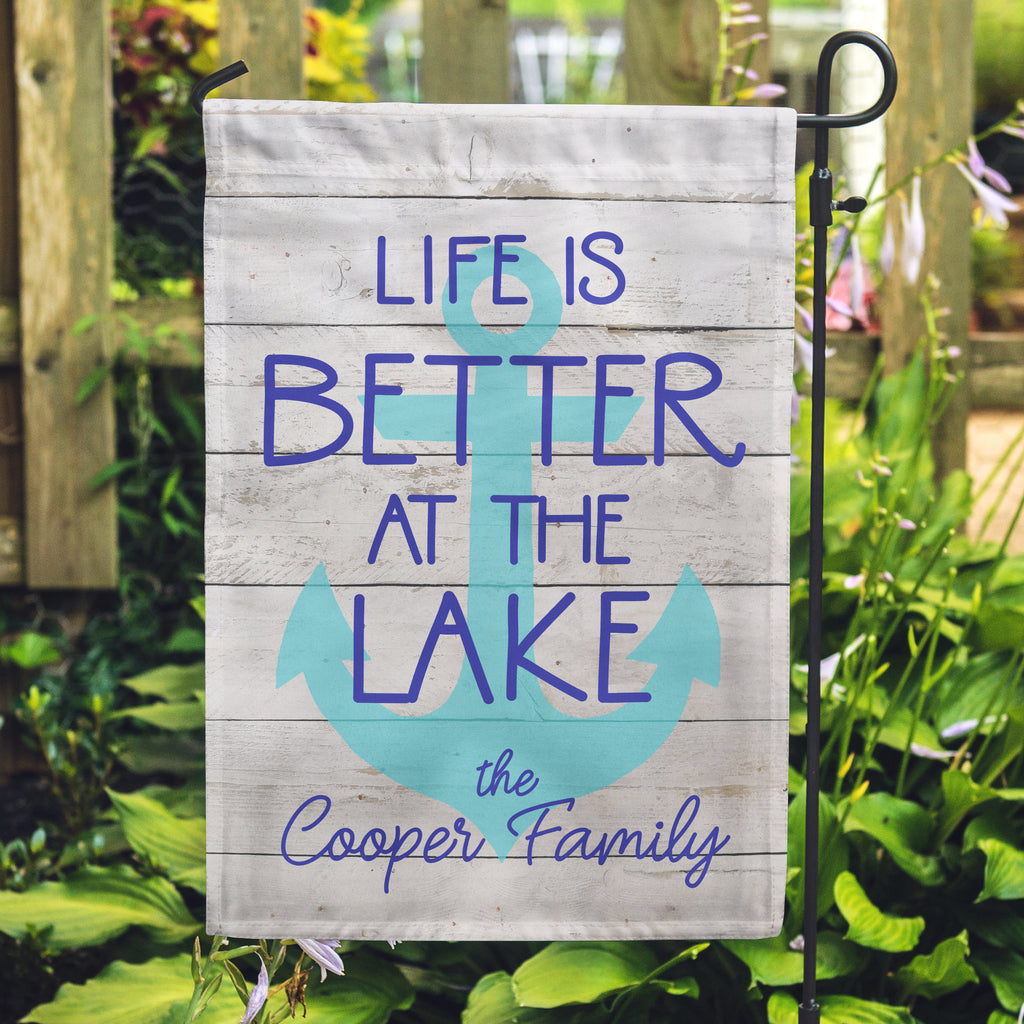 Life is better at the lake, Cabin Flag, Lake Flag, Life is good flag