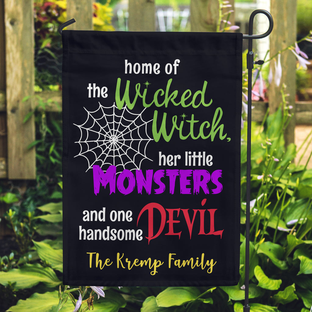 Halloween Flags, Wicked Witch Flags, Monster Flags, Family Flags, Yard Flags,