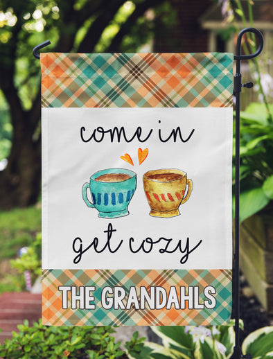 Autumn Garden Flag,  Come in Get Cozy, Custom Garden Flag for Fall, Personalized Fall Flag