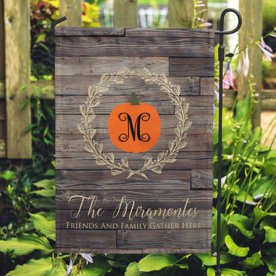 Personalized Home flags, October Yard Flags, November Yard Flags, Pumpkin Flags, Fall Flags,