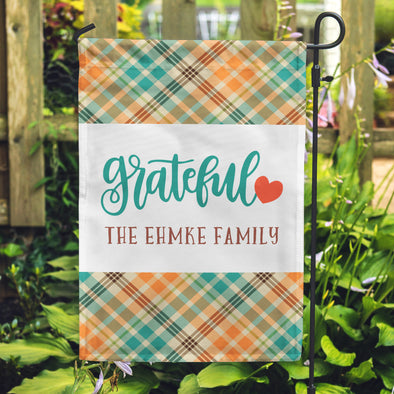 Personalized Family Flags, Grateful Flags, Patterned Flags, Plaid Flags, Yard Flags