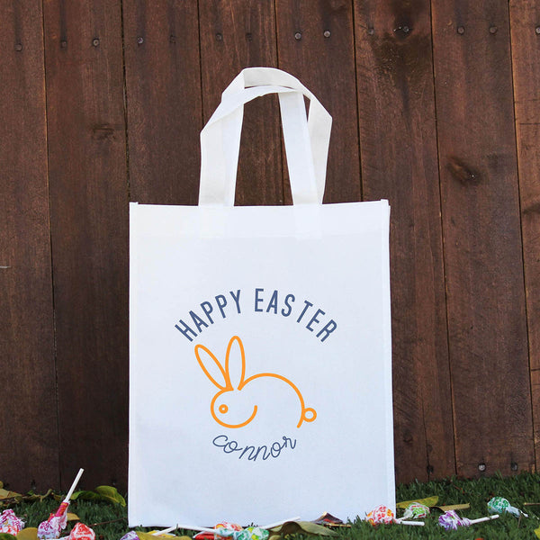 Happy Easter Treat Bag - Orange Rabbit