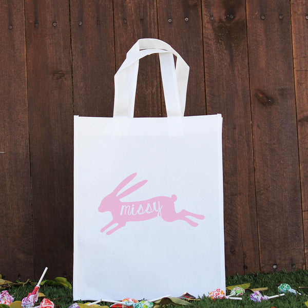 Happy Easter Treat Bag - Pink Rabbit