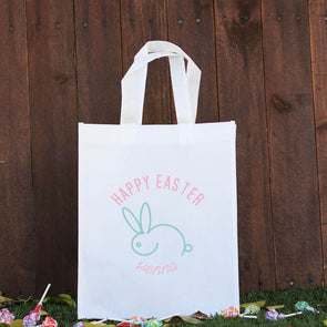 Happy Easter Treat Bag - Mint Rabbit