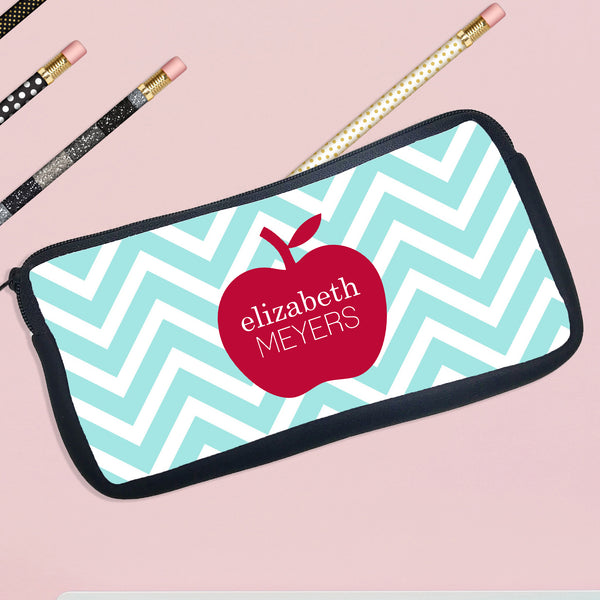 Personalized Pencil Case Apple In Middle