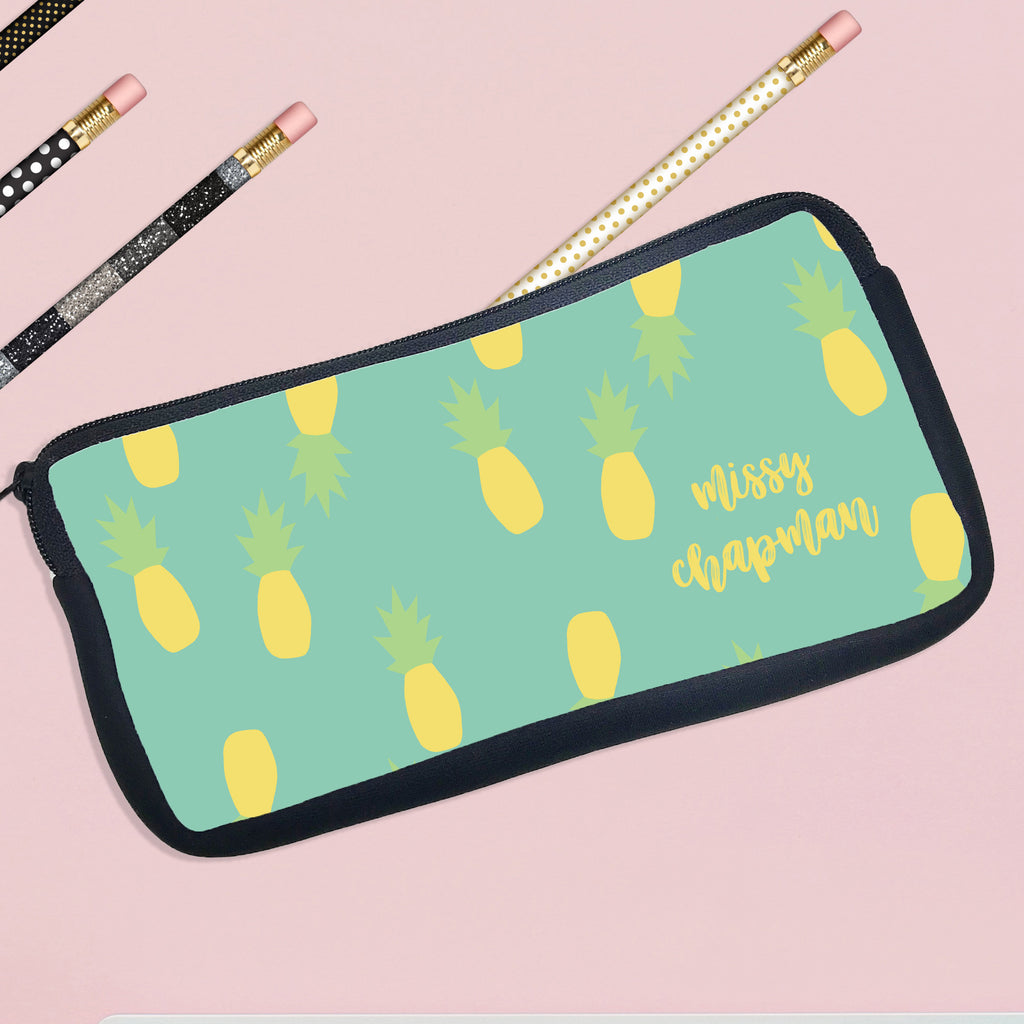 Personalized Pencil Case Water Pine Apples