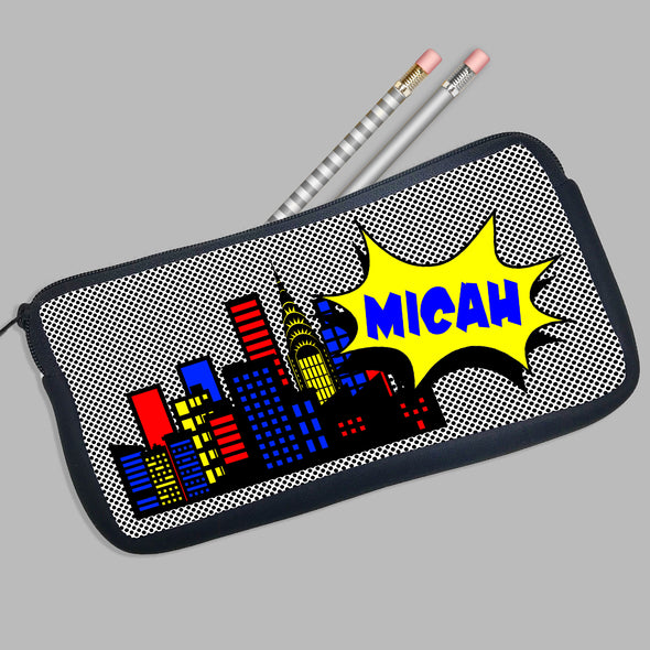 Personalized Pencil Case Comic Theme
