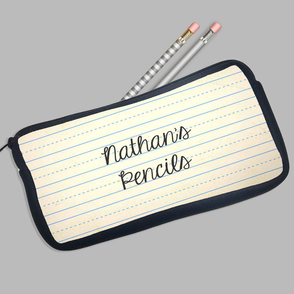 Personalized Pencil Case Paper Theme