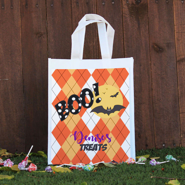 Trick or Treat Bag - Denise's Treats, Argyle BOO!