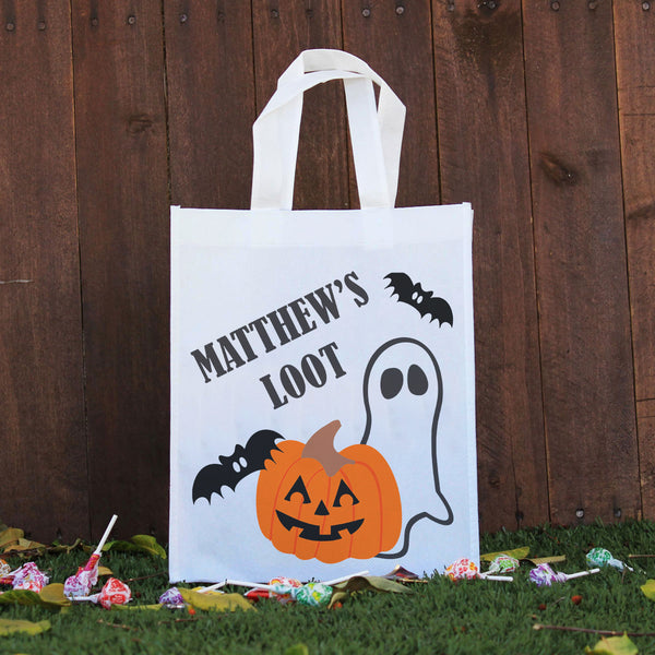 Trick or Treat Bag - Matthew's Loot