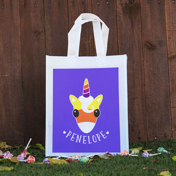 Trick or Treat Bag - Penelope, Candycorn Unicorn