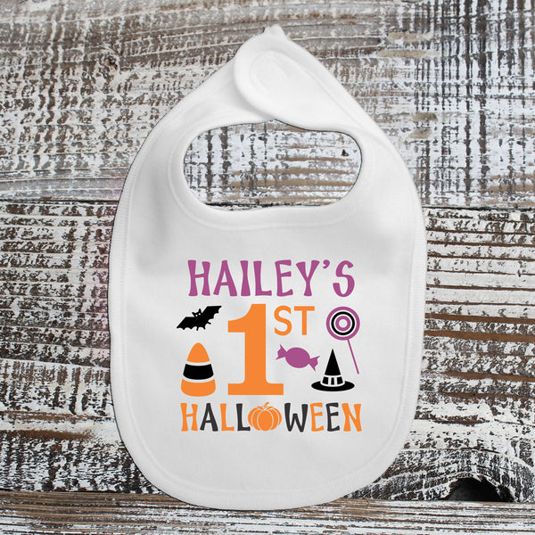 Baby Bib - Hailey's First Halloween