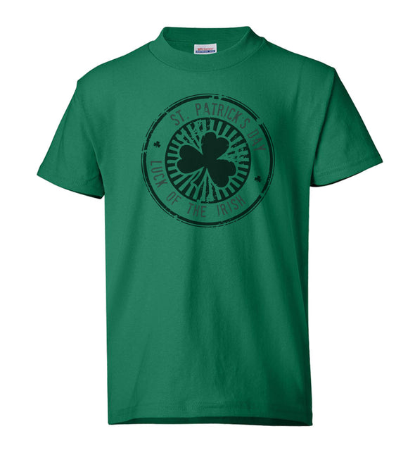 "Youth Shirt - ""St Patricks Day, Luck of the Irish"""
