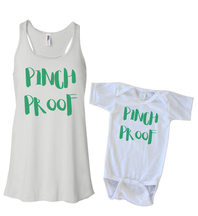 Matching Tank & Onesie - Pinch Proof