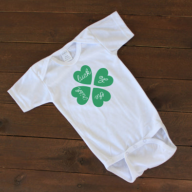 "Baby Onesie - ""Luck of the Irish"""