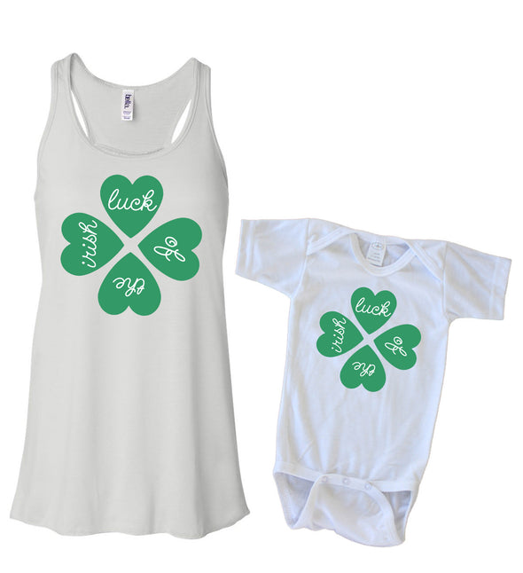Matching Tank & Onesie - Luck of the Irish