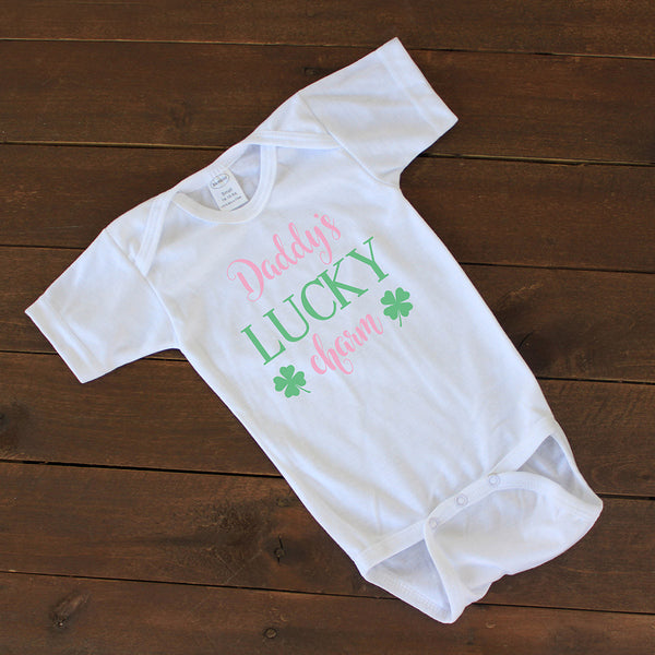 "Baby Onesie - ""Daddys Lucky Charm"""