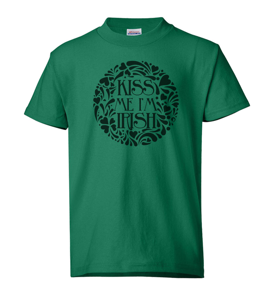 "Youth Shirt - ""Kiss me I'm Irish"""