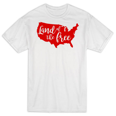 Land Of The Free Red 4th of July Shirt