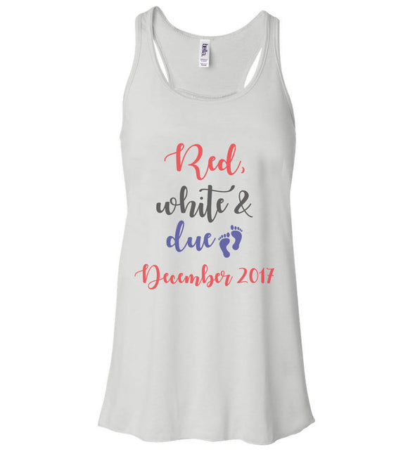 Women's Tank - 4th Of July Red White And Due
