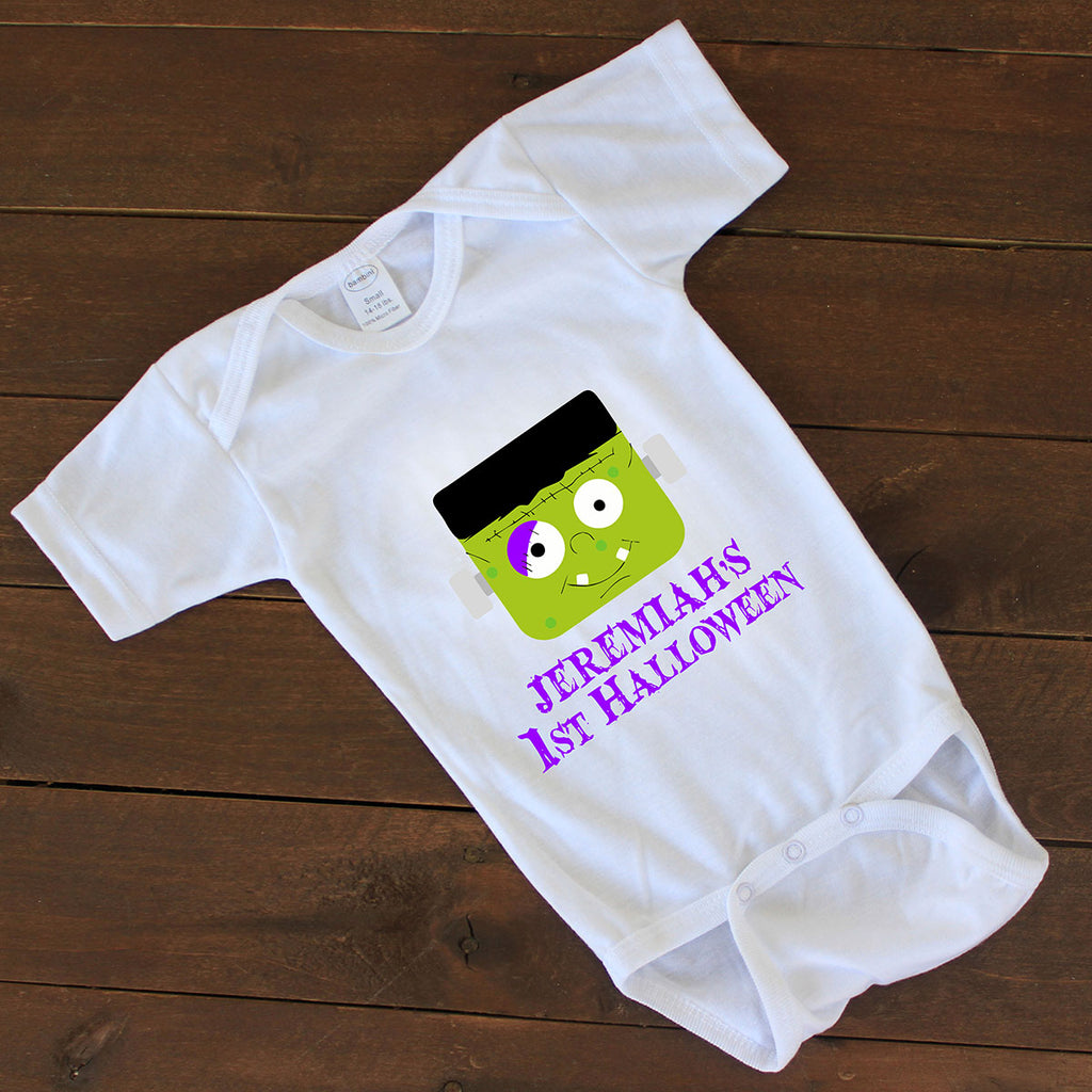 "Baby Onesie - ""Personalized First Halloween"""