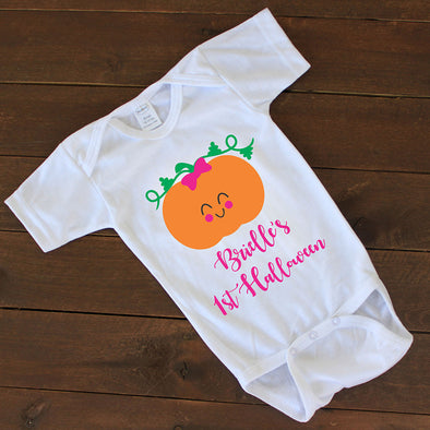"Baby Onesie - ""Pumpkin Personalized"""