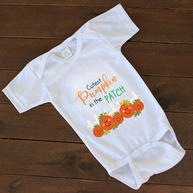 "Baby Onesie - ""Cutest Pumpkin"""