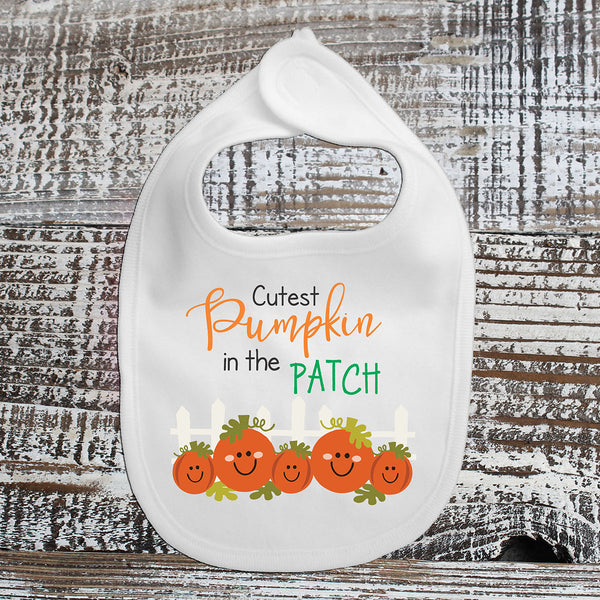 Baby Bib - Cutest Pumpkin In The Patch