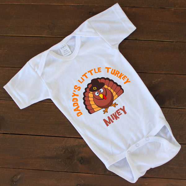 "Baby Onesie - ""Daddy's Little Turkey"""