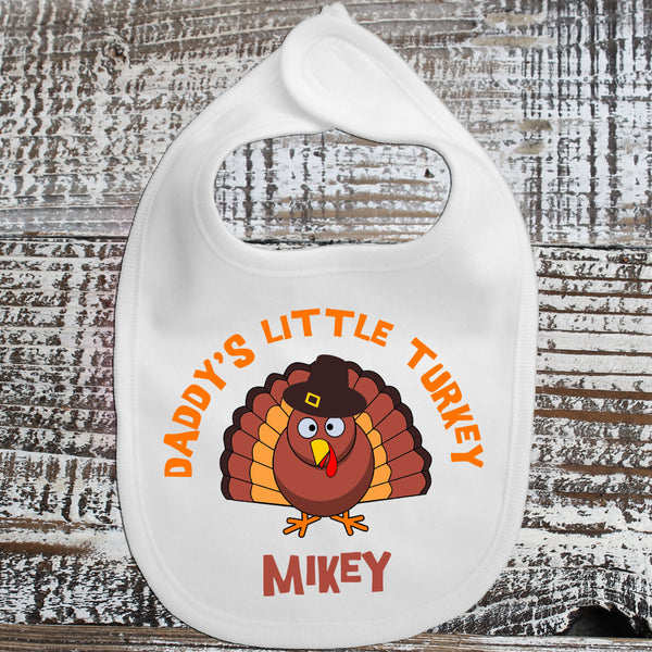 Baby Bib - Daddy's Little Turkey