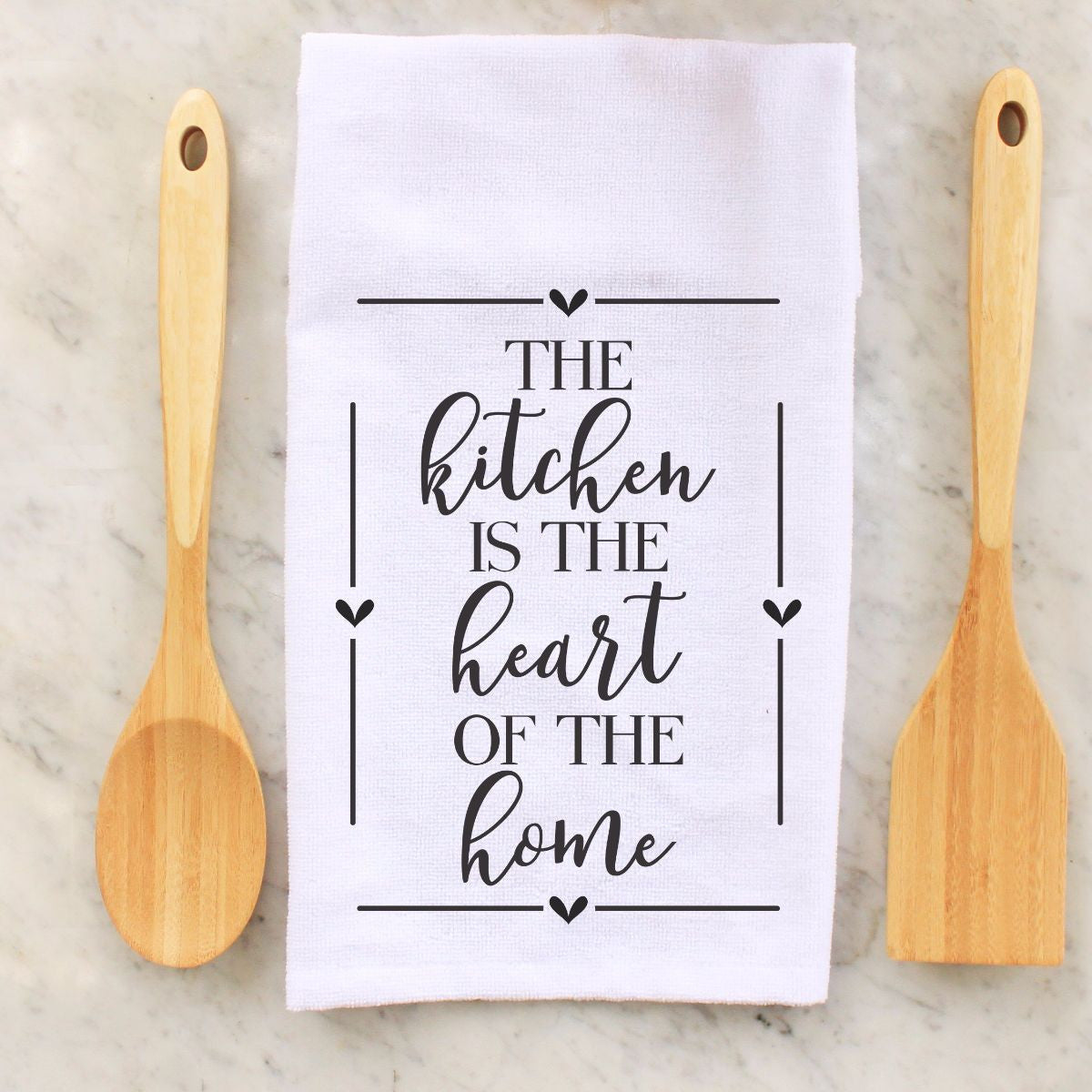 Peachy Tea Towel The Kitchen Is The Heart Home Interior And Landscaping Eliaenasavecom