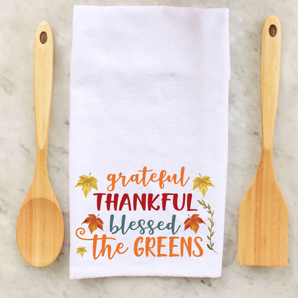 Grateful Towels, Thankful Towels, Blessed Towels, Personalized Towels, Seasonal Towels, Decorative Towels