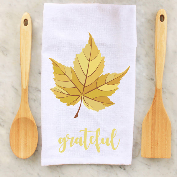 grateful, leaves, leaf, kitchen towels, kitchen, decorative towels, Thanksgiving, thanksgiving, personalized towels, personalized towel, custom towel, custom towels, fall, fall towel, fall towels, personalized towel, personalized towels,