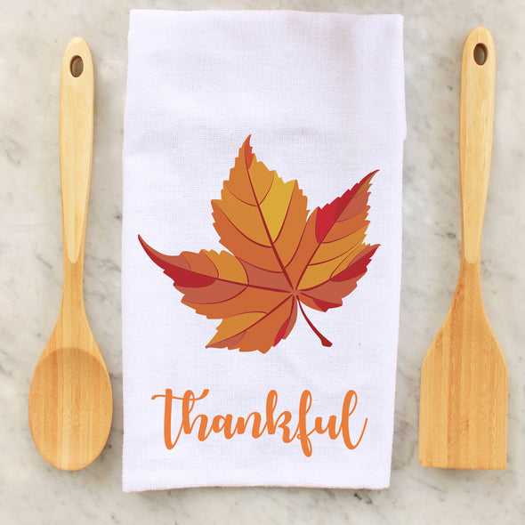 thankful, leaves, leaf, grateful thankful blessed, seasonal towel, seasonal towels, kitchen towels, kitchen, decorative towels, Thanksgiving, thanksgiving, personalized towels, personalized towel, custom towel, custom towels, fall, fall towel, fall towels, personalized towel, personalized towels,  personalised towel, personalised towels