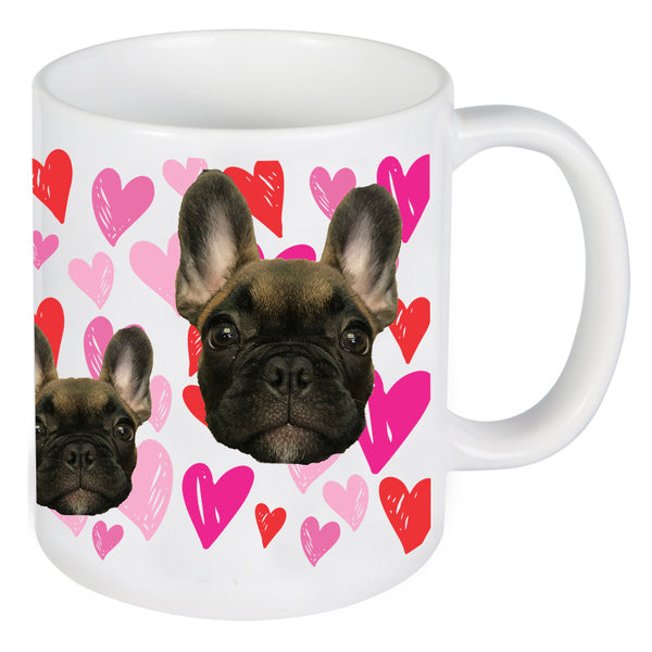 Face Photo On Mug With Hearts