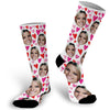 Custom Face Photo Valentines Socks, Face Socks, Valentine Face Socks, Heart Face Socks, Photo Socks