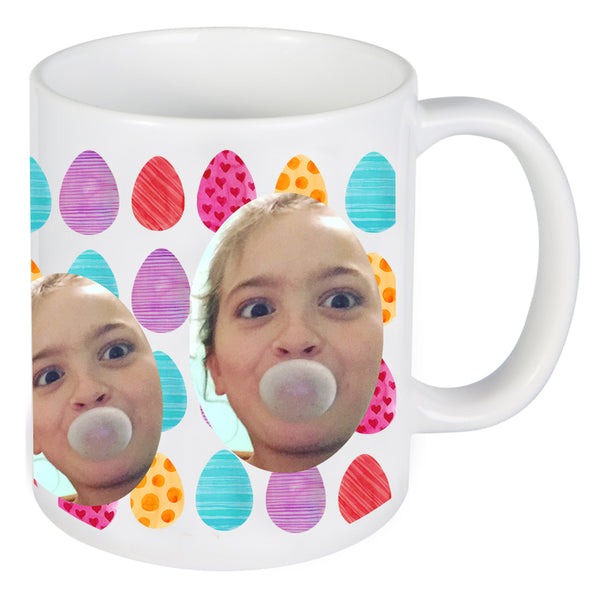 Easter Egg Face Photo On Mug