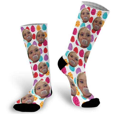 Custom Face Photo Easter Egg Socks