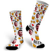 Custom Face Photo I Love Beer Socks, Beer Face Socks, Beer Lover Gift, Face Socks, Picture on Socks, Stocking Stuffer