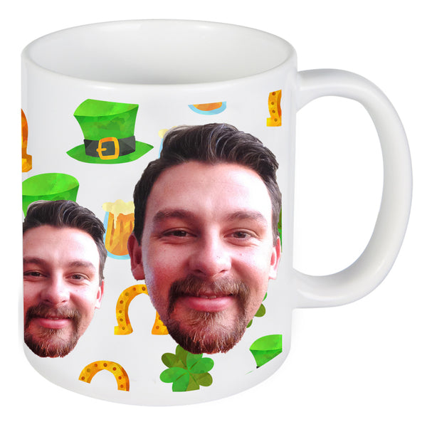 Saint Patrick's Day Face Photo On Mug