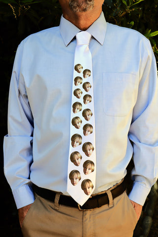 "Photo Tie, Father's Day Tie, Dad Tie, Custom Tie, Personalized Tie ""Face Only"""