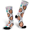 Custom Face Photo Birthday Socks