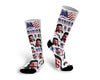 Custom Face Photo Merica Socks, 4th of July Face Socks, Fourth of July Photo Socks, Face Socks, Picture on Socks, Photo Socks