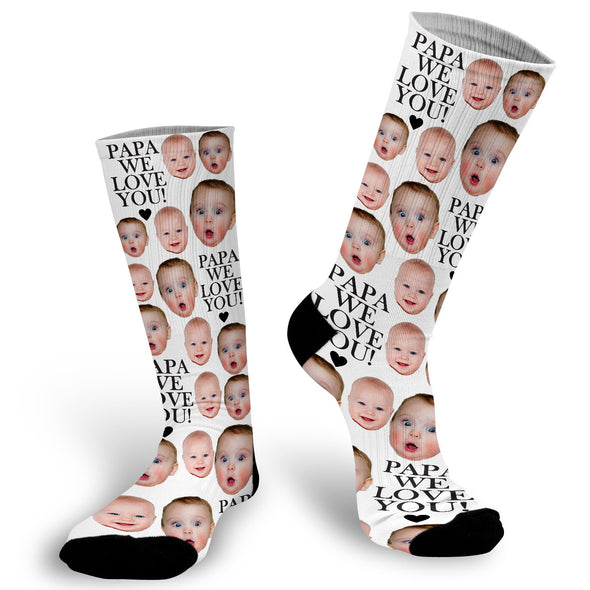 Love You Daddy Face Socks, Socks for Dad, Face Socks, Father's Day Gift, Photo Socks, Face Socks